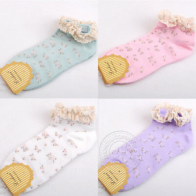 Lace Little Flower Short Socks Women's Cute Beautiful Cotton Boat Socks Hot