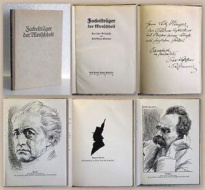 Zimmermann-Fackeltraeger-der-Menschheit-Lyrische-Bildnisse-1926-mit-Widmung-xz