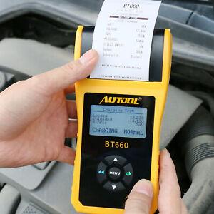 12-V-Voiture-Demarrage-Recharge-systeme-de-Batterie-Testeur-Analyseur-de-diagnostic-avec-imprimante