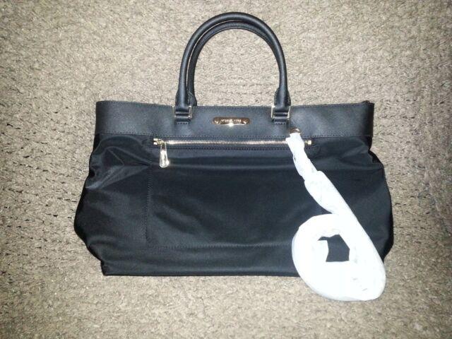 c85678ee222f Michael Kors Colgate Nylon Black Large EW Tote Satchel Shoulder Handbag