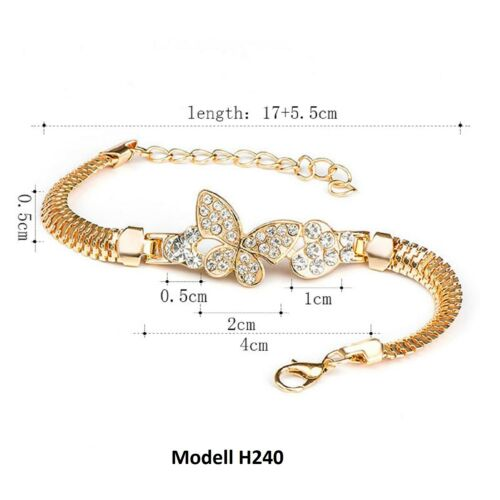 Pulsera señora oro brazalete brazalete joyas cristal pedrería dorado regalo