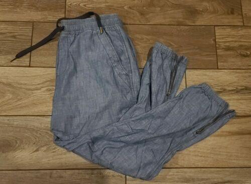 Polo Ralph Lauren Chambray Jogger Pants M Zipped C