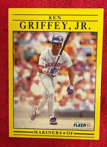 1991 Fleer KEN GRIFFEY JR. Seattle Mariners #450