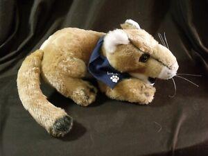 Mountain-Lion-Plush-Stuffed-Animal-cougar-cat-team-realistic-blue-bandana-13-034