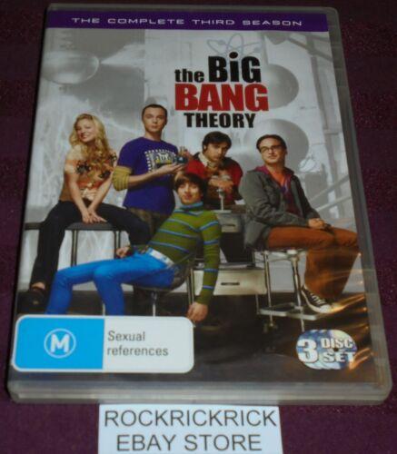 1 of 1 - THE BIG BANG THEORY - COMPLETE THIRD SEASON DVD -3 DISC SET-