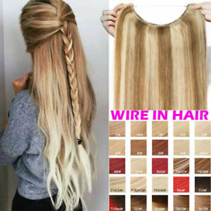 Straight-8A-Human-Remy-Hair-Extensions-Hidden-Secret-Wire-Miracle-Wire-Remy-80g