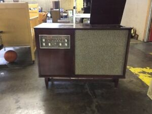 Image Is Loading Mid Century Modern Stereo Console Admiral Radio Record