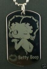 Betty Boop blowing  KISS  Dog Tag Pendant Necklace