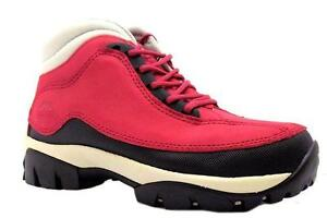 LADIES SAFETY WORK BOOTS RED STEEL TOE CAP SHOES 4-8