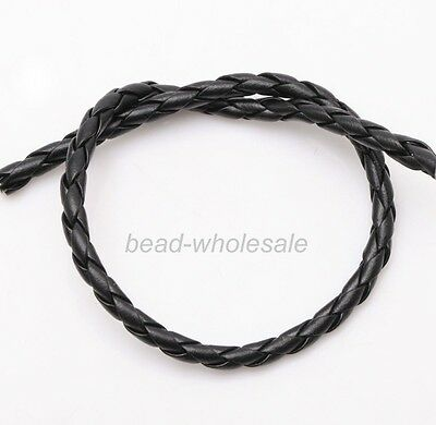5m New Hot Man-made Leather Braid Rope Cord For DIY Necklace Bracelet 4/6/8mm