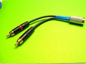 Hochwertiger-Audioadapter-Cinch-Stecker-auf-5pol-Din-fuer-Dual-Plattenspieler