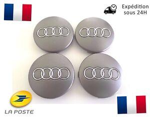 4x-Cache-Moyeu-Centre-de-Roue-Enjoliveur-Embleme-Jante-Logo-insigne-Audi-60MM