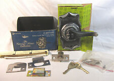 Vintage AMEROCK Carriage House Ant. Silver Entry Lock Knob/Lever Set  C-9071-AS
