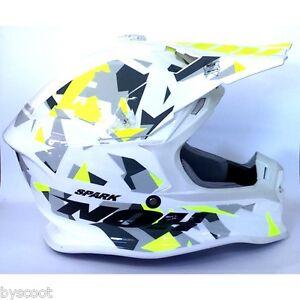 Casque Cross Nox N631 Spark Moto Cross Enduro Quad Jaune Fluo Mx