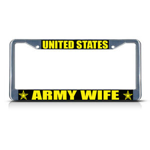 United States Army Wife Metal License Plate Frame Tag
