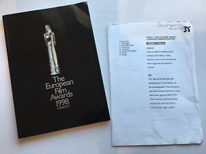 The-European-Film-Awards-1998-Mel-Smith-Script-Pages-And-Award-Brochure-Original