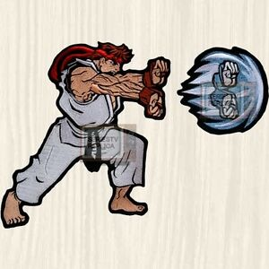 Details about Street Fighter 2 Ryu Big Embroidered Patch Character Capcom  Super Japan Karate