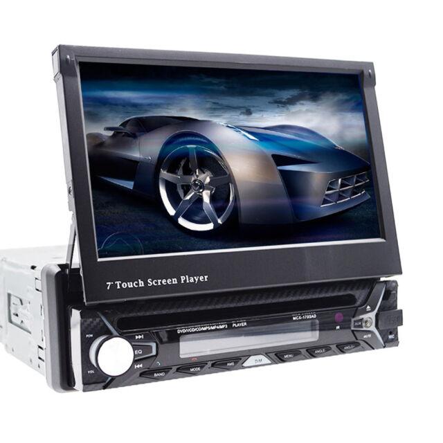 Single 1 Din Car Stereo Dvd Player Indash Gps Radio Rds 7\ Mp3 Rhebay: Car Radio With Cd Player At Gmaili.net