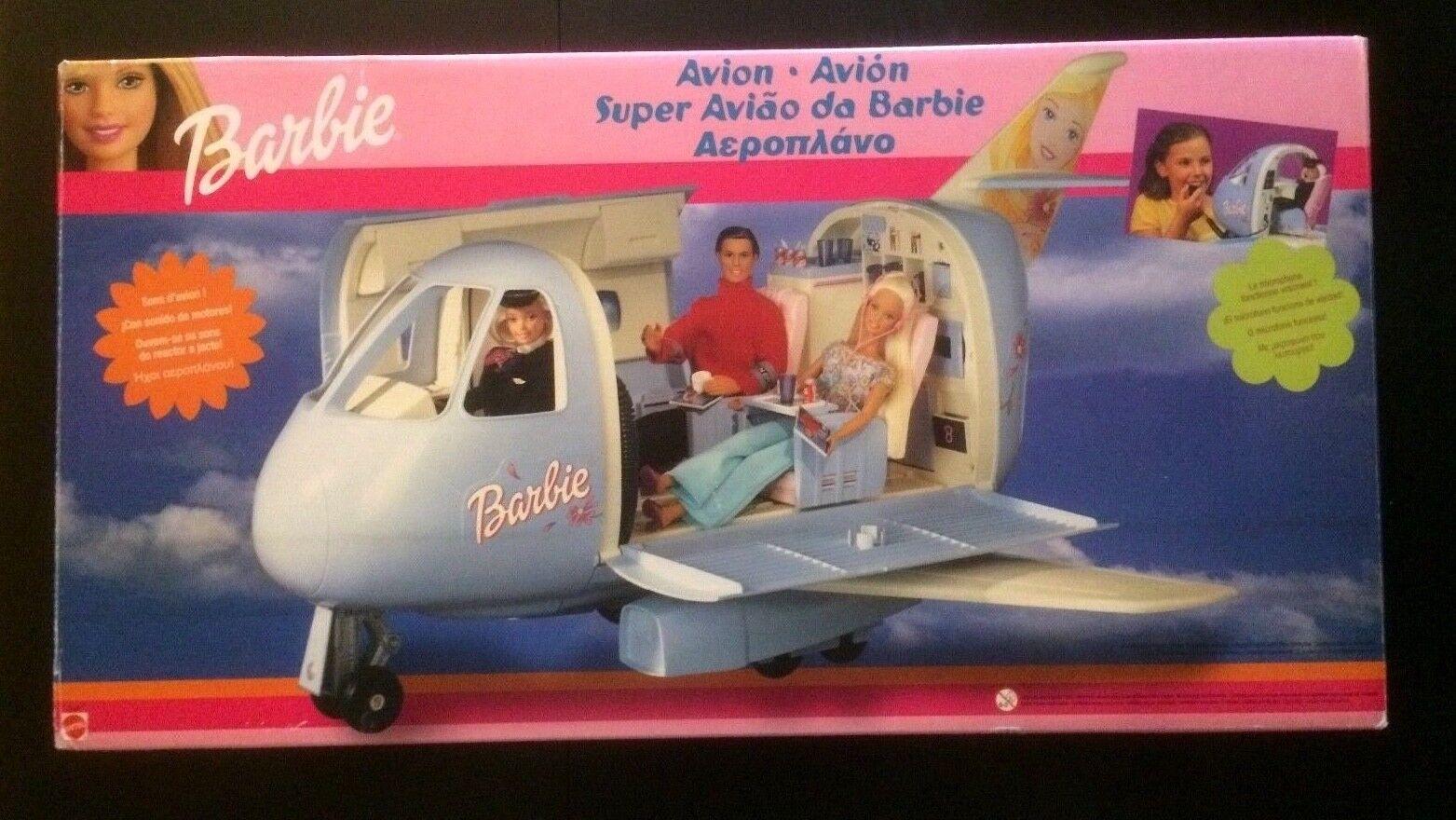 BARBIE AVION AIRPLANE MATTEL 1999 Farbe Blau