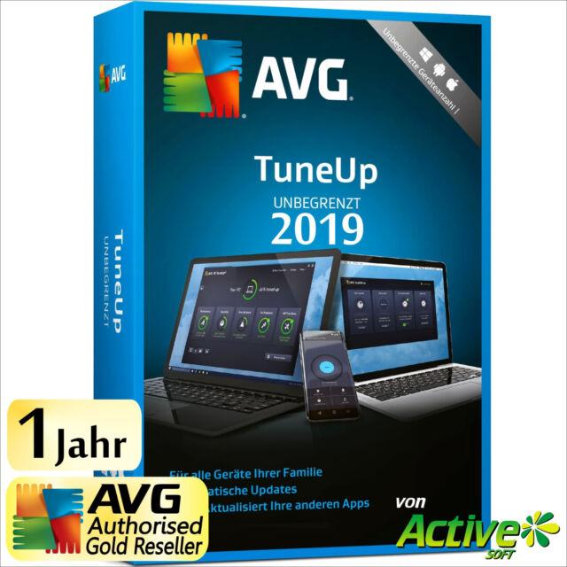 AVG TuneUp 2019 - UNBEGRENZT   Alle PC/Geräte   TuneUp Utilities 1 Jahr DE 2018