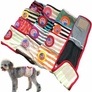 PACK-of-Dog-Diapers-RANDOM-Colors-Male-Boy-BELLY-BAND-Wrap-For-Small-Dogs-XXS-L