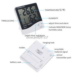 HTC-1 thermomètre hygromètre Station Météo Température Humidité Bureau Alarme