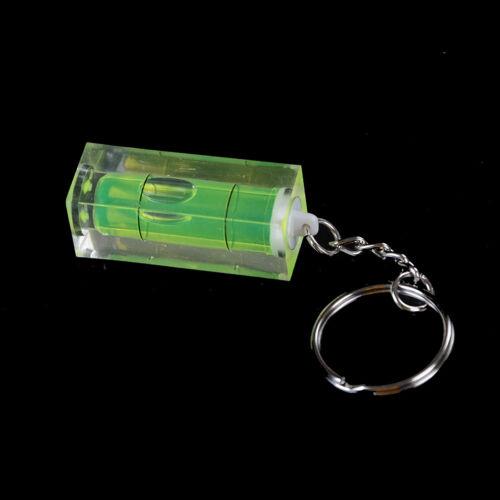 Mini Wasserwaage Schlüsselanhänger Schlüsselanhänger Werkzeug DIY Ring Gadget CP