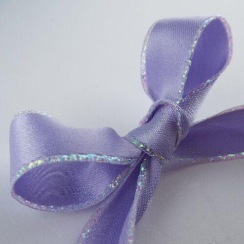 Iridescent 5mm 15mm Satin Edged Ribbon Pearl Baby Wedding Pastle Baby BUY 1 2 4m