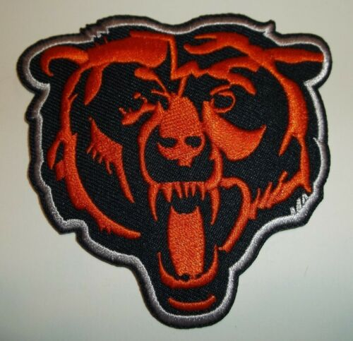 Chicago Bears Head Embroidered PATCH~3 1/4 x 3 1/4~Iron Sew On~NFL~Ships FREE