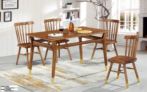 Group Dinner 8x Chairs Pads Seat Table Chair Set Wood Set Lehn Tables New