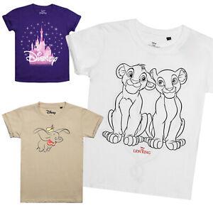 Disney-Dumbo-Rey-Leon-Tinkerbell-Girls-T-Shirts-oficial-con-licencia
