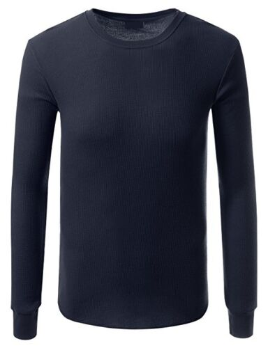 Details about  /Medium Thermal Long Sleeve Round Neck Tshirt /& Long Johns Trouser for Men/'s Blue