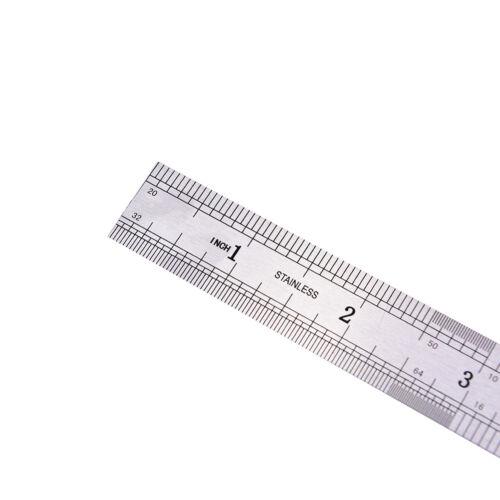 1PC Metric Rule Precision Double Sided Measuring Tool  15cm Metal Ruler PVCA
