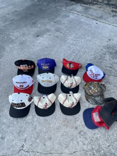 Vintage Snapback Lot Vintage Hat Lot Men's Snapbac