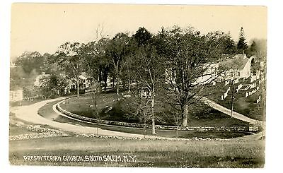 South Salem NY -PRESBYTERIAN CHURCH & PARK- RPPC Postcard