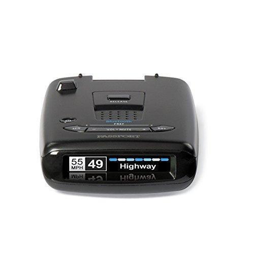 Adjustable LED Display Escort Passport S55 Radar Detector AutoMute Black Escort Live App Extended Long Range Audible Alerts AutoSensitivity Signal Strength Meter