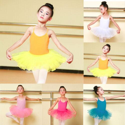 Lovely Toddler Kid Girl Ballet Dress Tutu Leotard Dance Gymnastics Strap Clothes