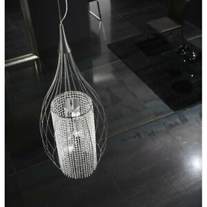 Metal-Lux-Stilla-3-Light-Crystal-Pendant-Silver-Hangling-Ceiling-RRP-609