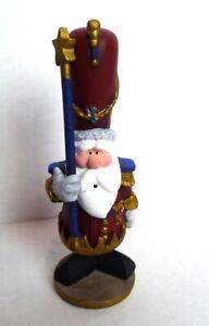Christmas-Parade-Santa-Claus-1990-039-s-Vintage-Figurine-Decoration