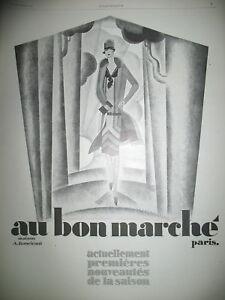 PUBLICITE-DE-PRESSE-AU-BON-MARCHe-NOUVEAUTeS-SAISON-ILLUSTRATION-MERCIER-AD-1926
