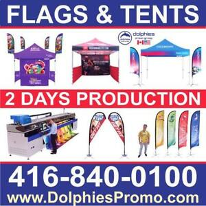 2 DAYS PRODUCTION: Heavy Duty Outdoor 10x10 EZ Pop Up Canopy Instant TENT Commercial Grade + CUSTOM Printed Canopy Ontario Preview