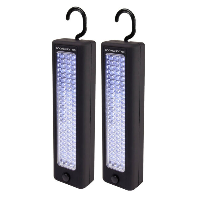 Andrew James Magnetic LED Light Hanging Inspection Work Lamp 72 Bright Bulbs x 2