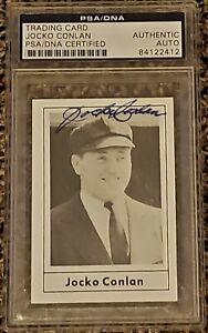 Jocko-Conlan-signed-autographed-1978-Grand-Slam-Hall-of-Fame-HOF-PSA-Umpire
