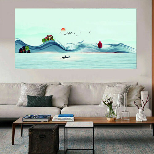 Oriental Mountains-and-Waters Painting Canvas Art Picture Prints Decor rSZbQW