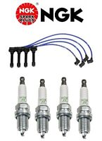 Ngk He82 High Performance Spark Plug Wire Set & 4-pieces Ngk Zfr5f11 Spark Plugs on sale