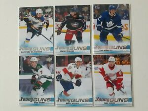 Lot-of-6-2019-20-Upper-Deck-YOUNG-GUNS-MIKHEYEV-HIROSE-KEEPER-STURM-MacEachern