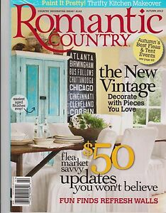 Details about ROMANTIC COUNTRY Magazine #142 Autumn 2013, Country  Decorating Ideas.