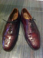 Christopher Hayes MENS Burgundy Cordovan Leather Wingtip OXFORD Shoes 8.5 EEE