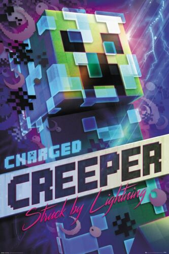 Minecraft Charged Creeper Offiziell Neu Maxi Poster 61 x 91.5cm FP4744