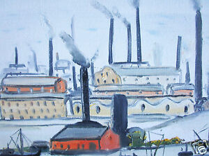 John-Goodlad-Art-Painting-UK-Framed-Art-Canvas-northern-Lowry-Large-industrial